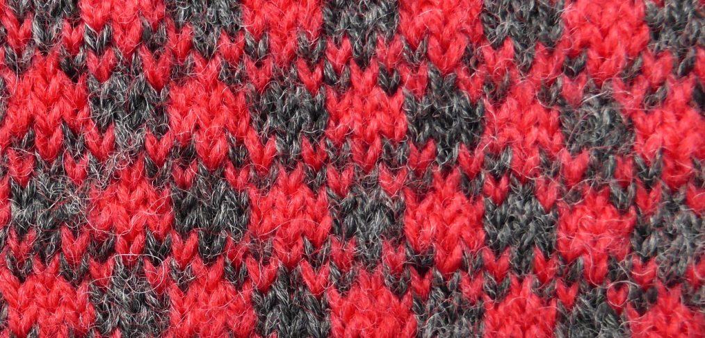 Detail of 'Prince of Wales' pattern fabric. (Photo: Angharad Thomas.)